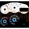 Накладка на щиток приборов для Toyota Celica T23# 00-05 Reverse Glow Gauge