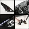 Фары DLR «ангельские глазки» c тонированным стеклом для Toyota Celica T23# 00-05