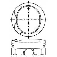 Поршень для двигателя Toyota 1ZZ-FE AW